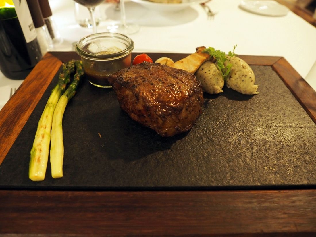 Steak at Allegria LUX Maldives