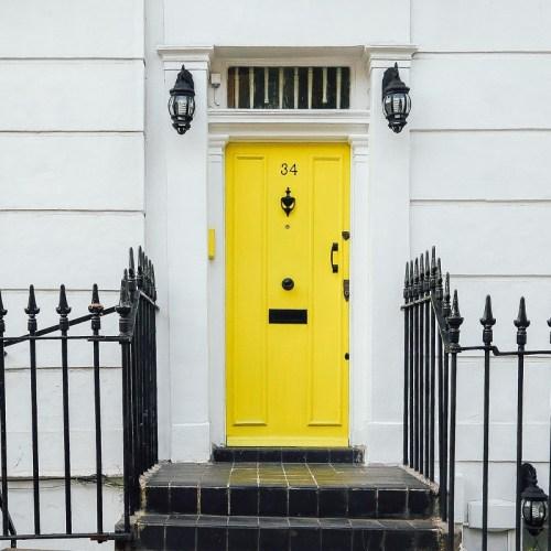Yellow door in London