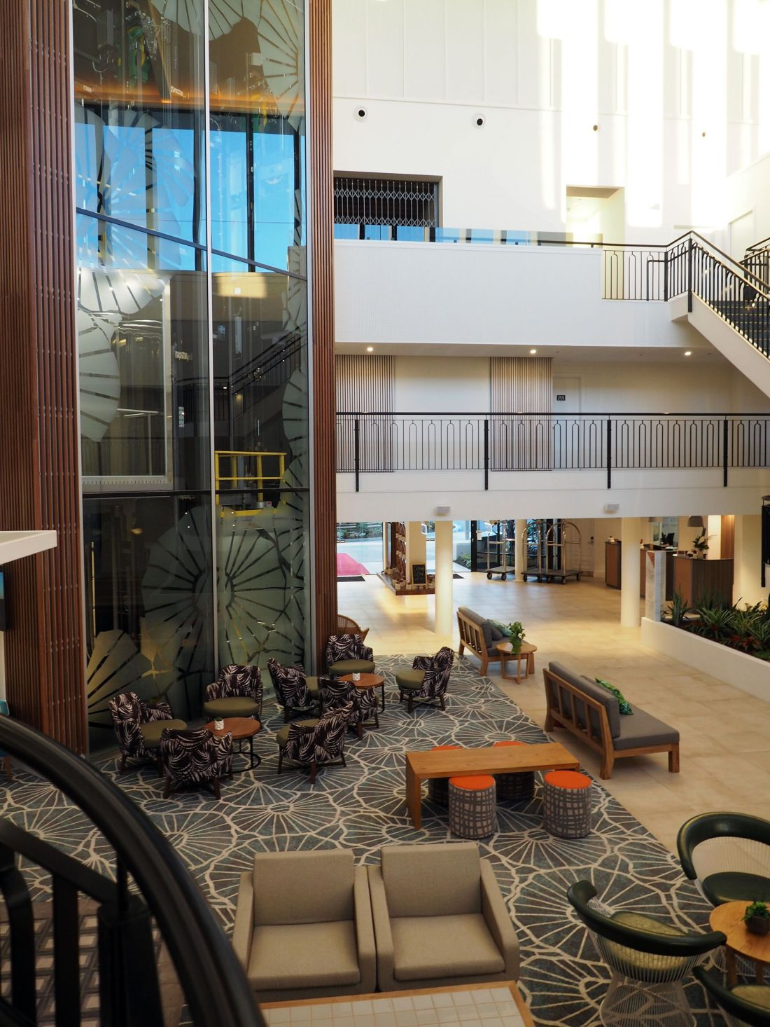 Lobby and elevator Sails Port Macquarie