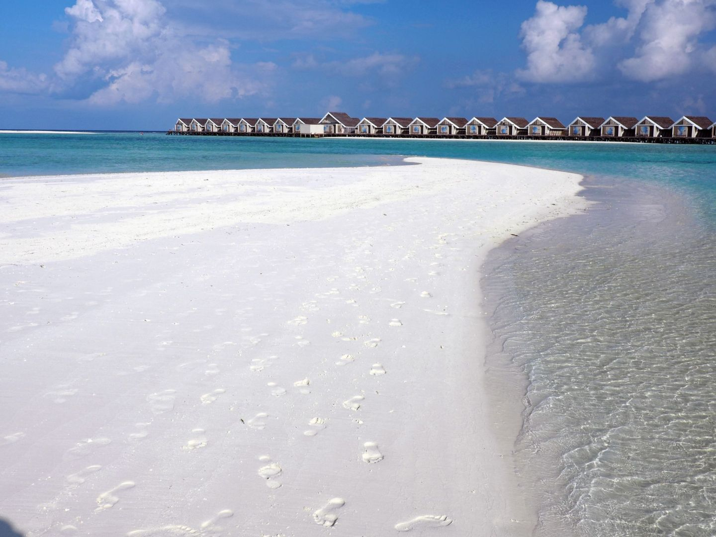Beautiful sandbar in Maldives