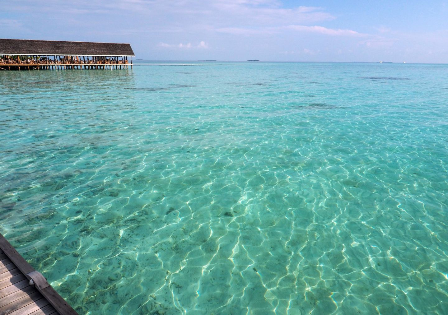 Crystal clear water at LUX Maldives
