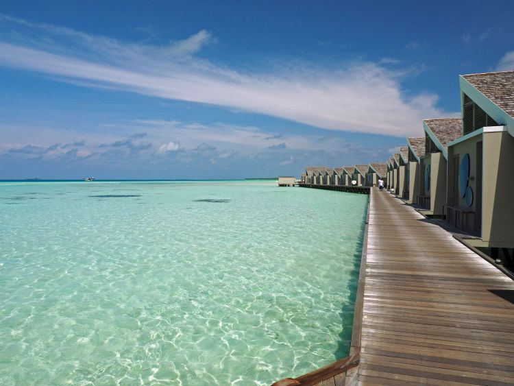 Walkway over water LUX Maldives