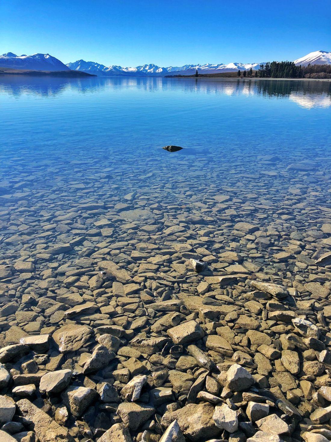 Crystal clear water Lake Tekapo