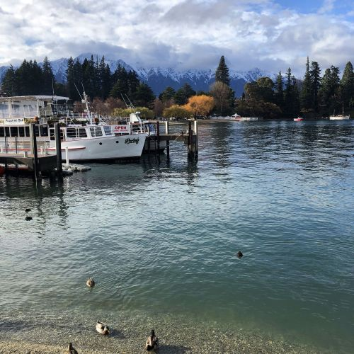 Lake Wakatipu with Remarkables in background