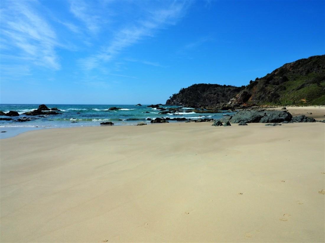 Walking along Miner's Beach Port Macquarie