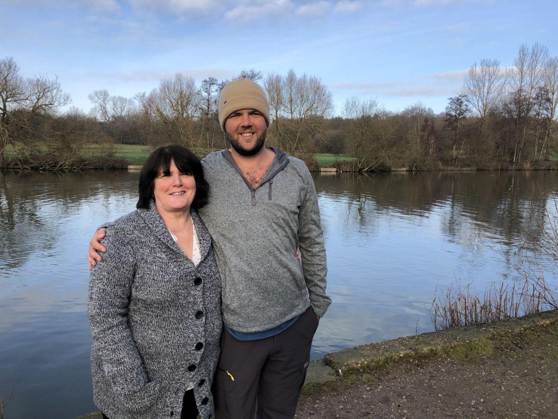 Dan and his mum at Earlswood Lakes