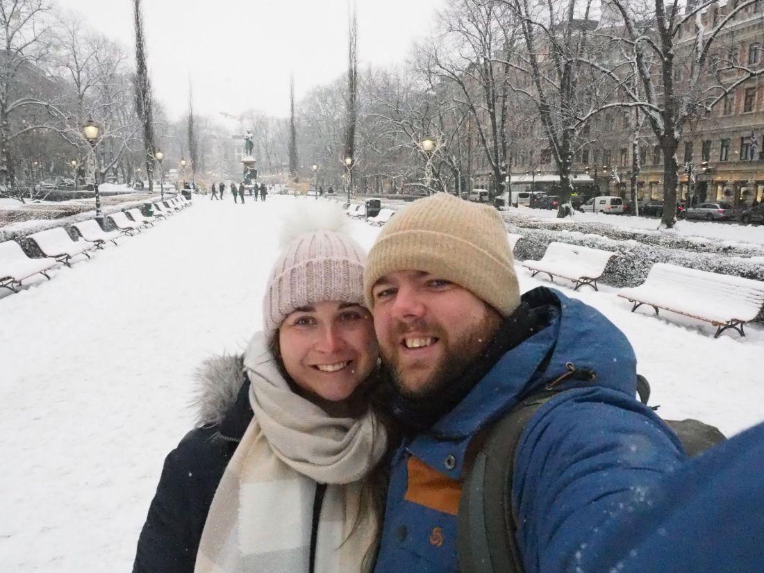Simone and Dan in Helsinki