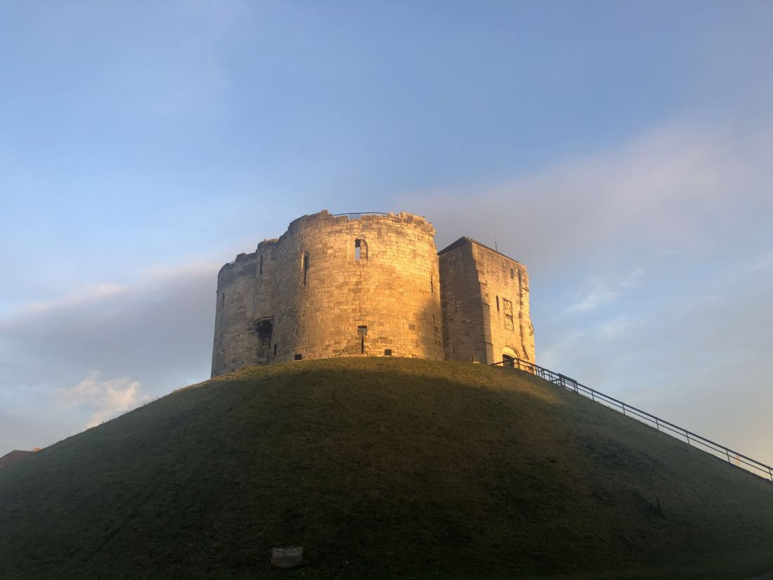 Sunrise over Clifford's Tower York