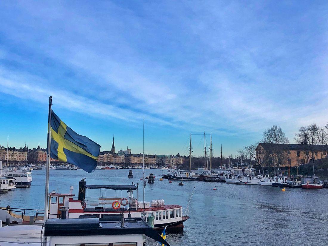 Swedish flag Stockholm