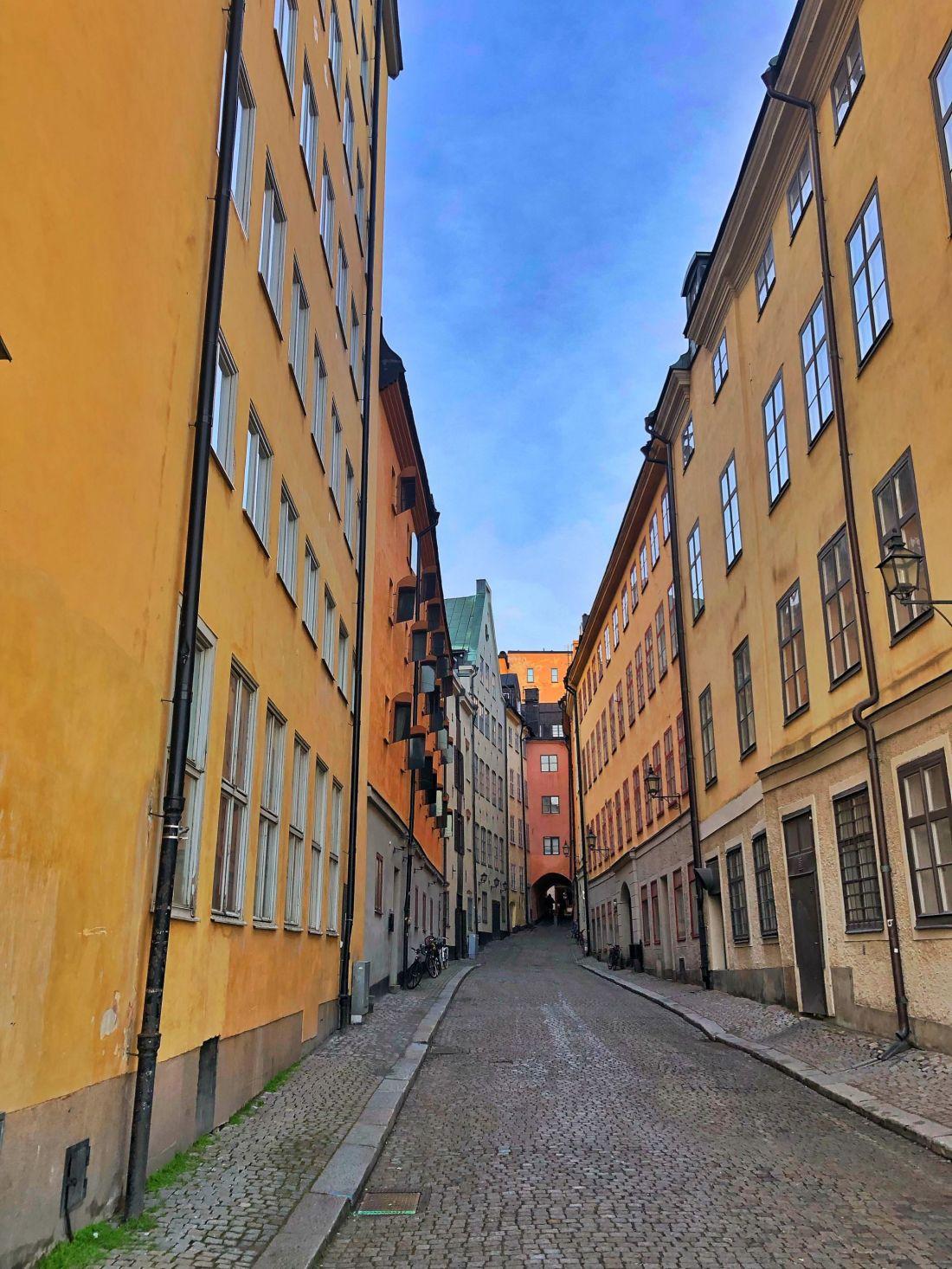 Yellow buildings Gamla Stan Stockholm