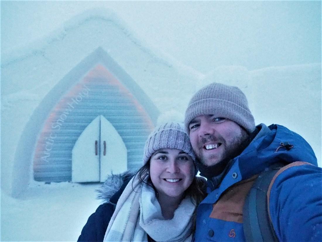 Simone and Dan at Arctic SnowHotel Rovaniemi