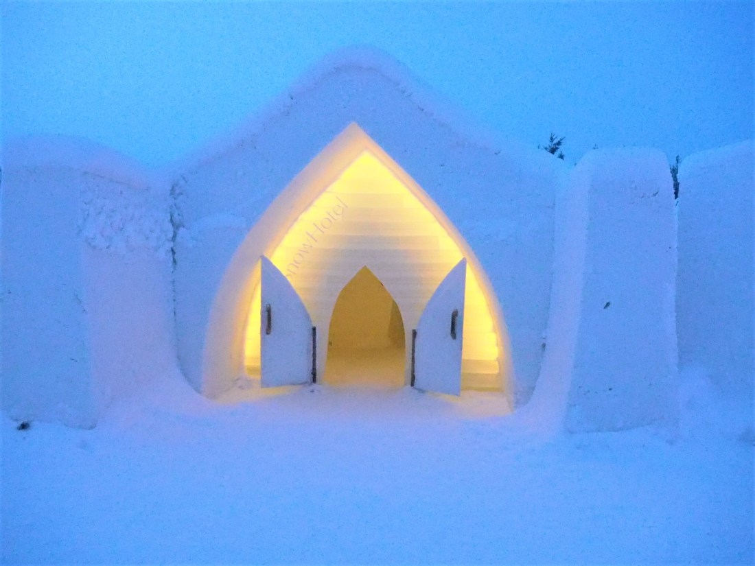 View of entrance to Arctic SnowHotel Rovaniemi