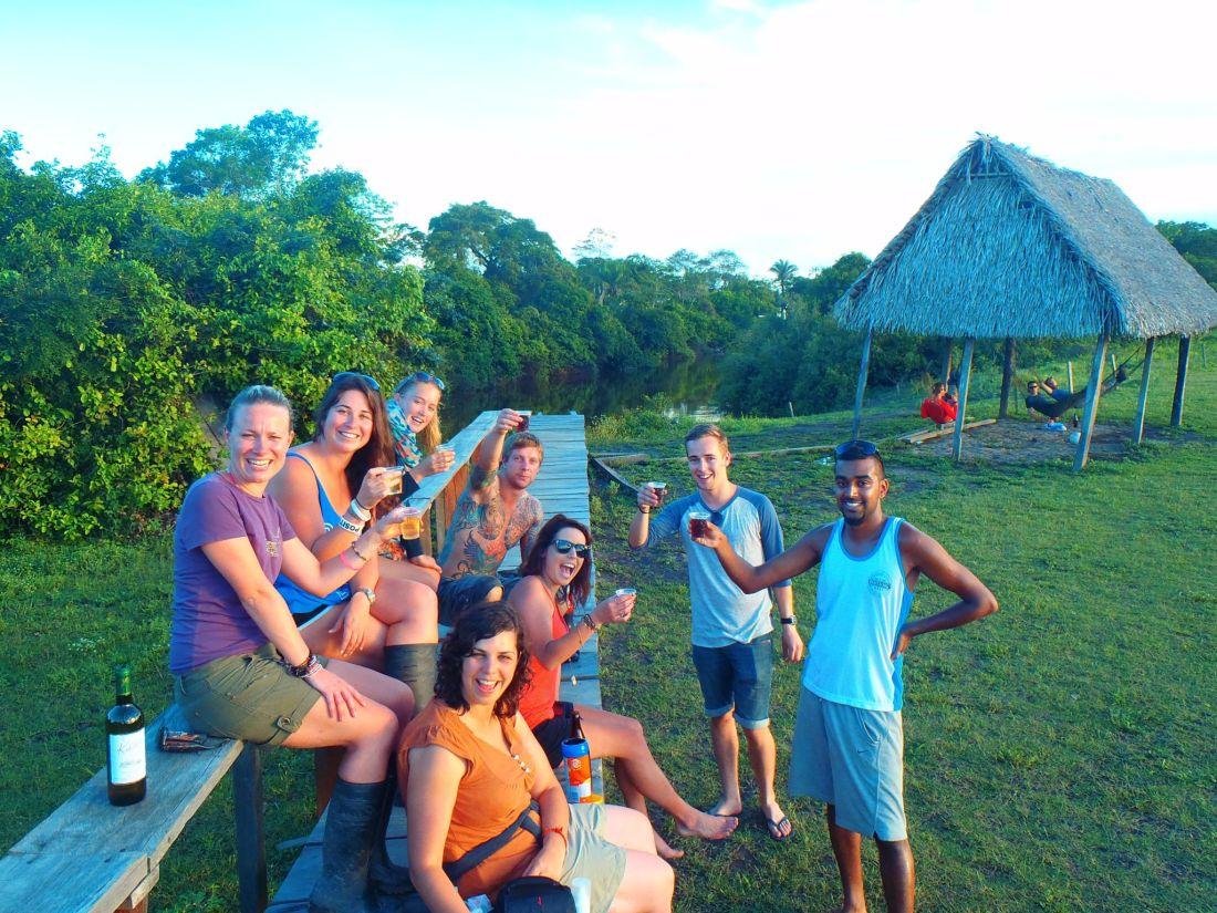 Group at Amazon Bar