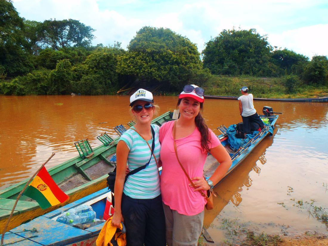 Simone and Nina on Pampas Tour