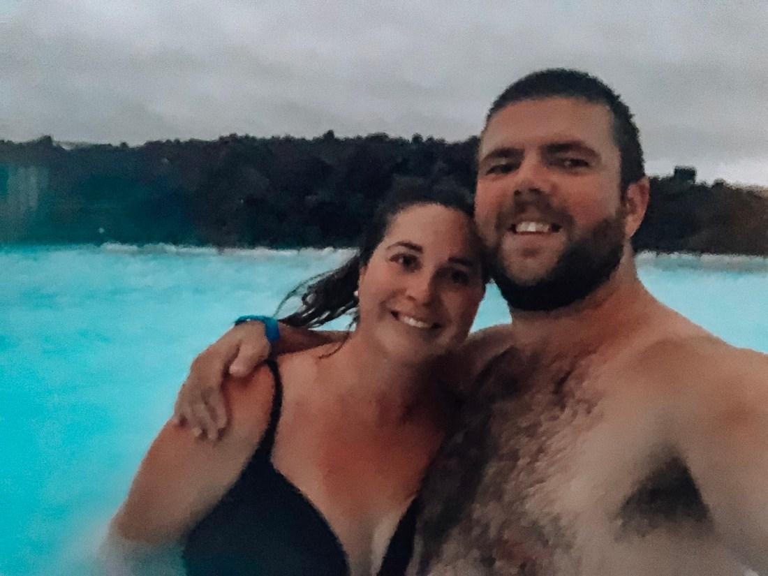 Simone and Dan in Blue Lagoon