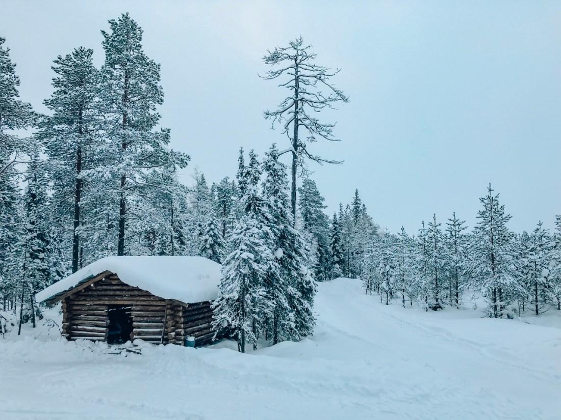 Snowy hut Finland