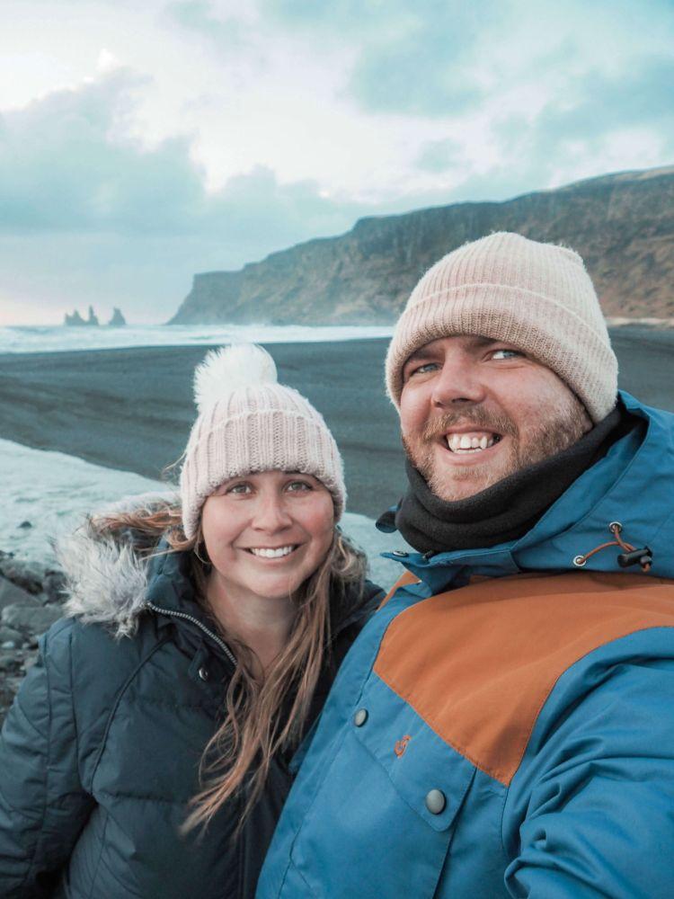 Simone and Dan at Vik Beach