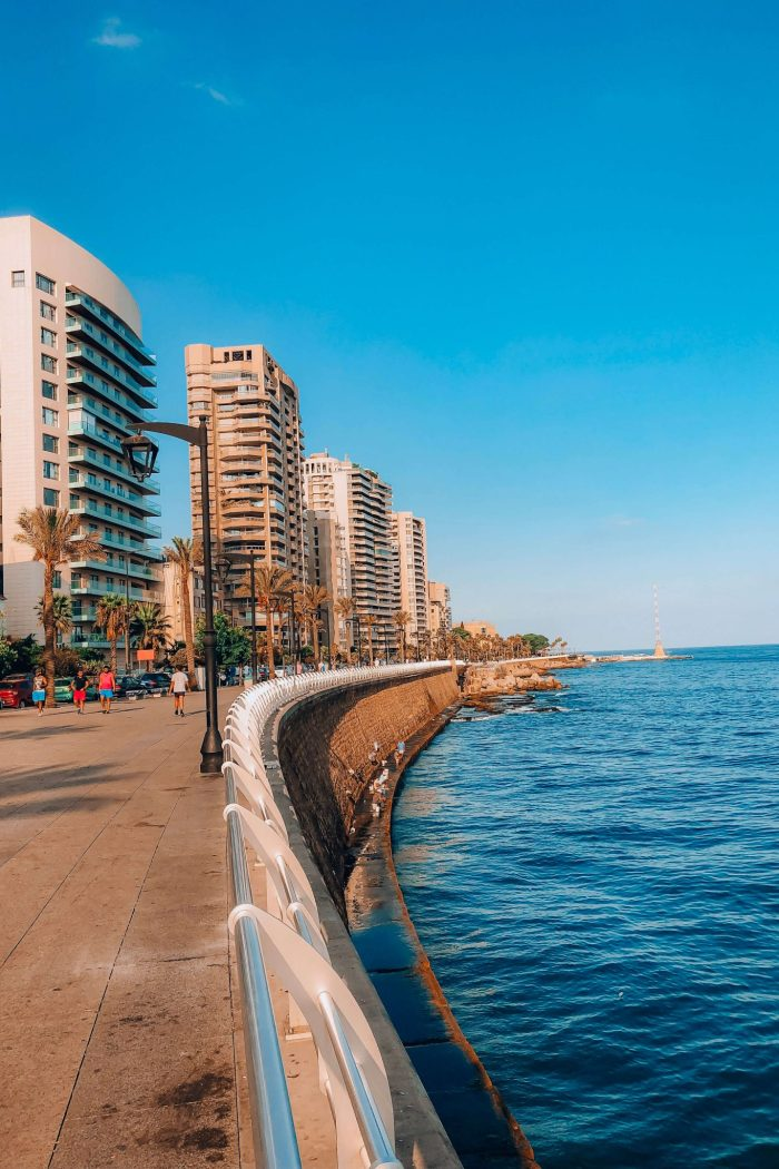 A morning stroll along the Beirut Corniche