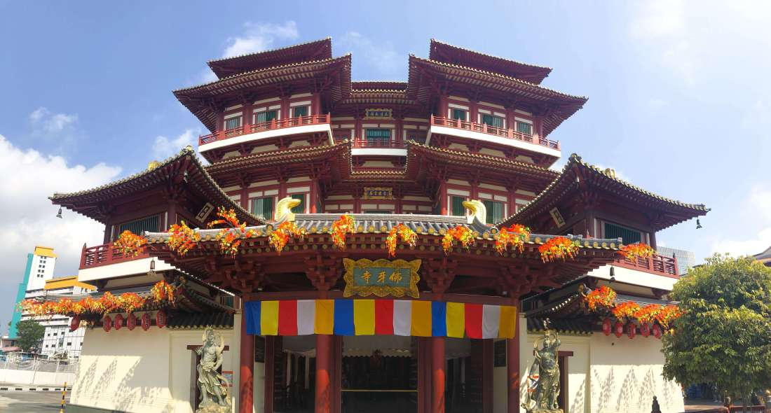 Buddha Tooth Relic Temple Panorama Singapore