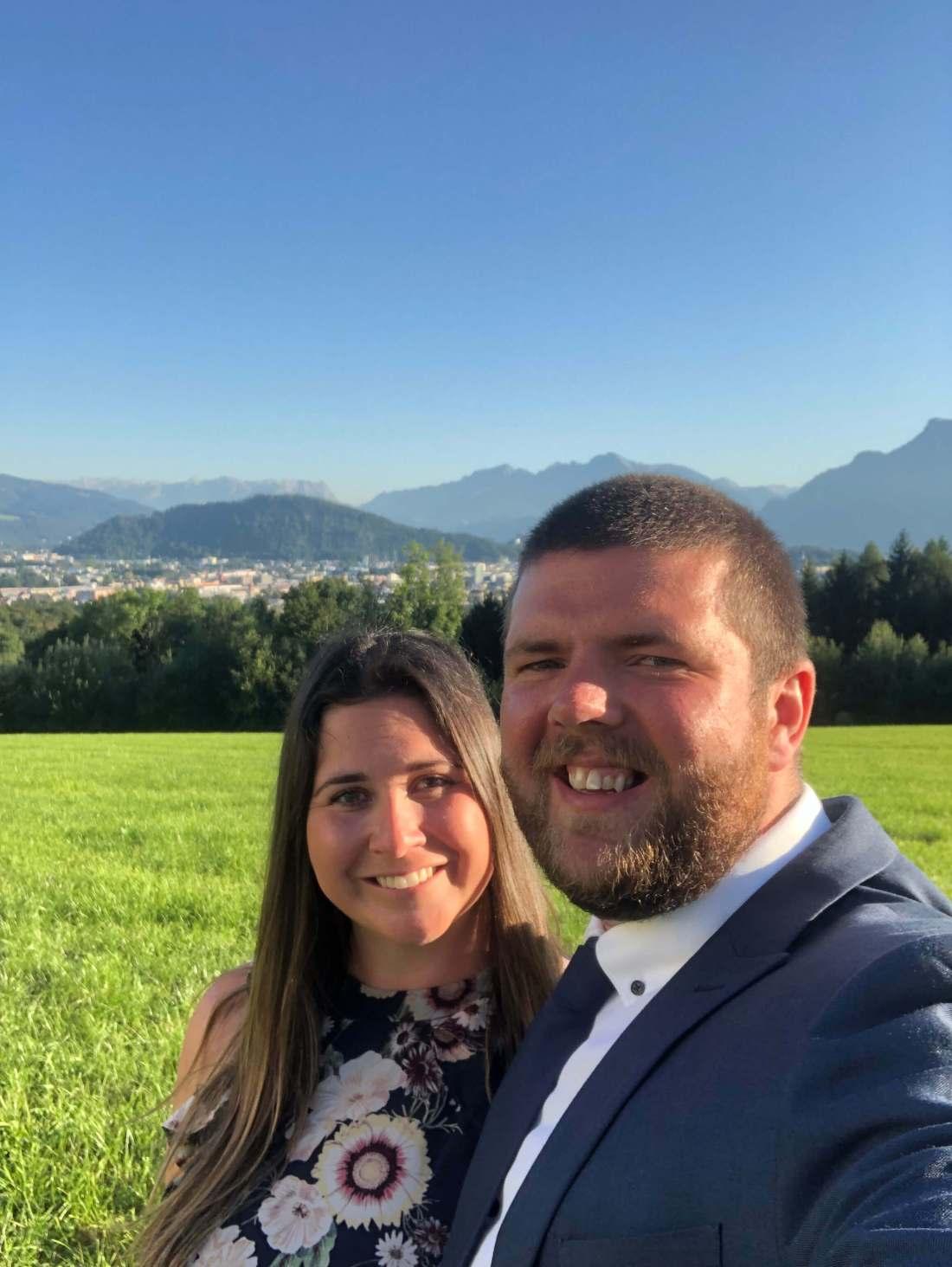 Simone and Dan at Austrian Wedding Salzburg