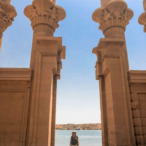 Simone-at-Temple-of-Isis-Philae-Island