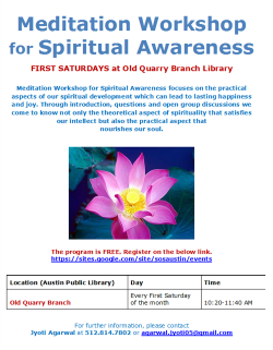Free Meditation Workshop