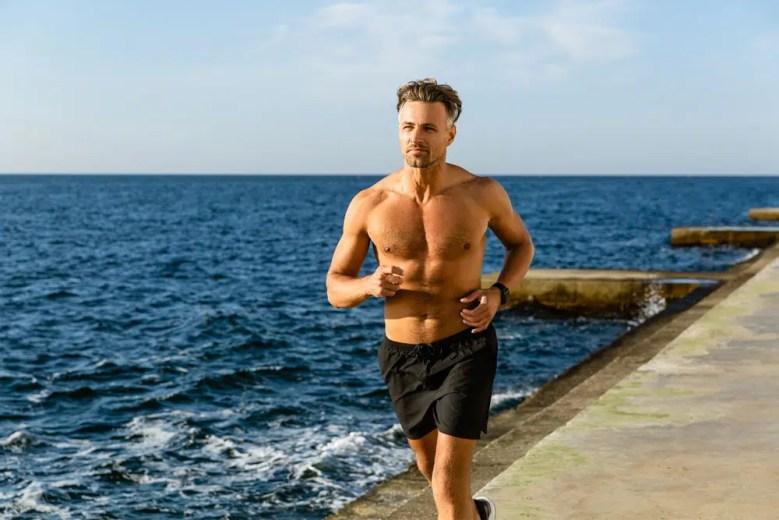sexy man running