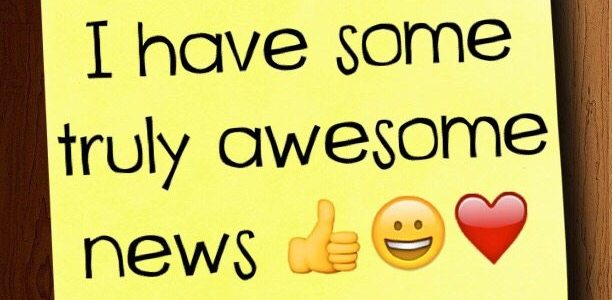I have some truly awesome news :)