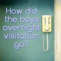 How did the boys overnight visitation go?