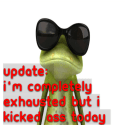UPDATE: I'm completely exhausted but I kicked ass today