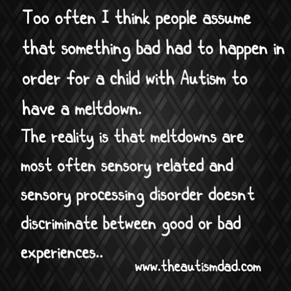 The Did You Know's of Autism: The Misconceptions Surrounding Overstimulation and Meltdowns This is another little Autism related fact that you can easily share and help to make the world around you a bit more Autism savy...