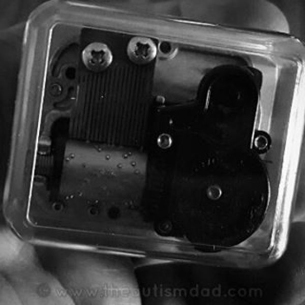 """Blast from the past with an old school music box The boys found this somewhere in the attic the other day. It plays """"Rock a bye baby"""" and the boys are fascinated with it..."""