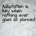 Adaptation is key when nothing ever goes as planned