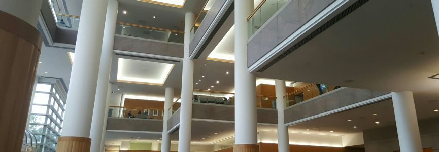 I'm just chillin in the gigantic lobby at the @ClevelandClinic
