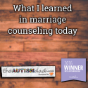 What I learned in marriage counseling today