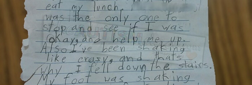 The heartbreaking letter my son with #Autism wrote