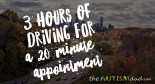 3 hours of driving for a 20 minute appointment