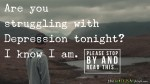 Are you struggling with #Depression tonight? I know I am.