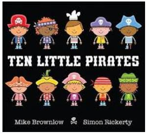 100 books for under 5's. Ten Little Pirates
