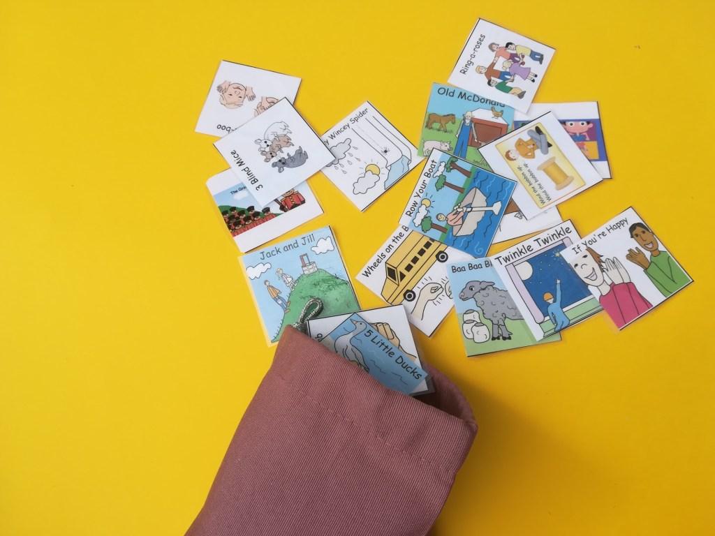 Nursery rhyme choice bag