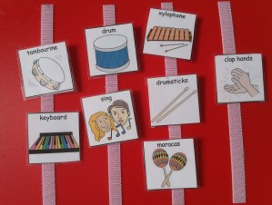 Music and autism, PECS Music activity board