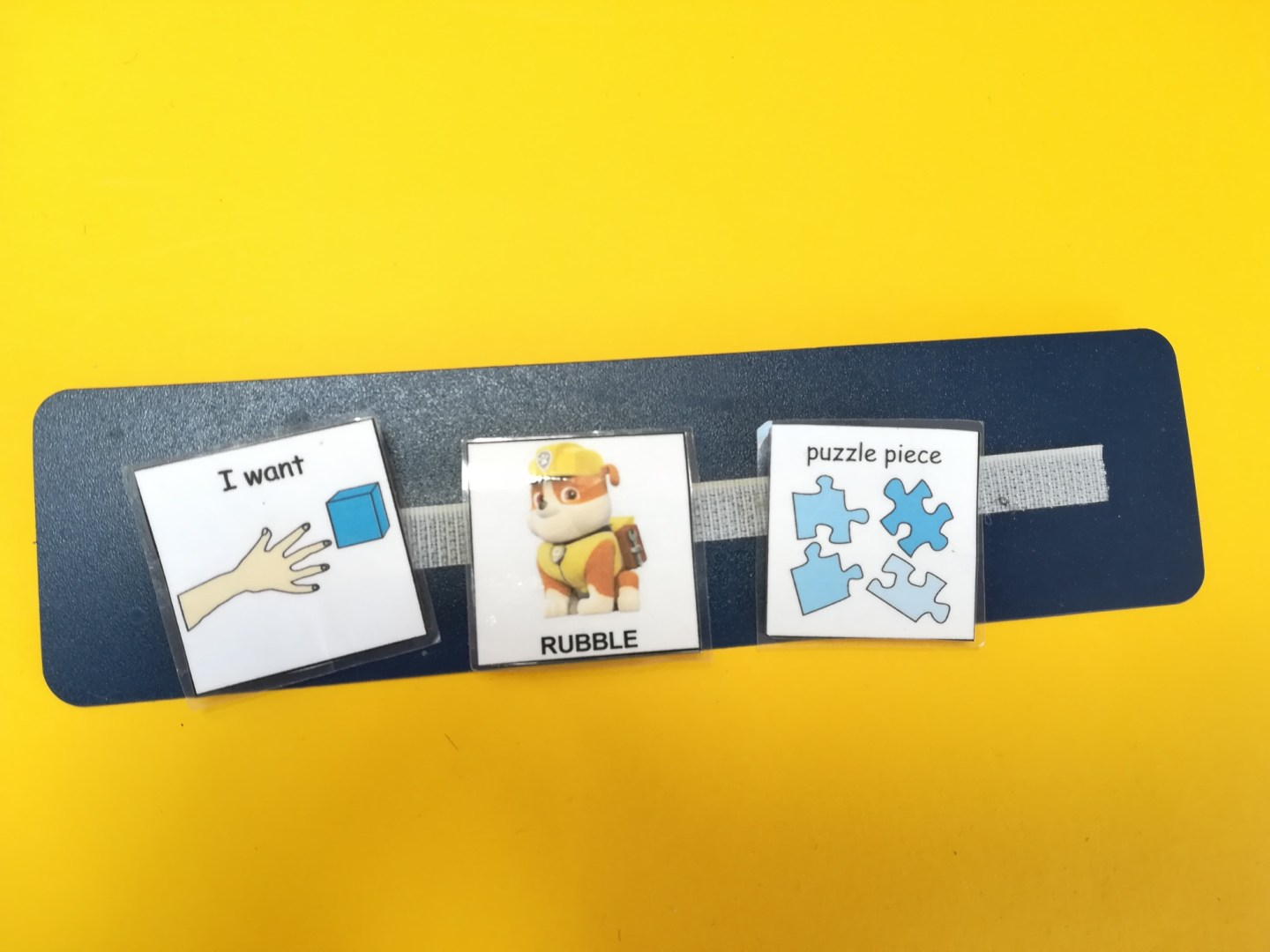 Puzzles and autism. The Picture Exchange Communication System