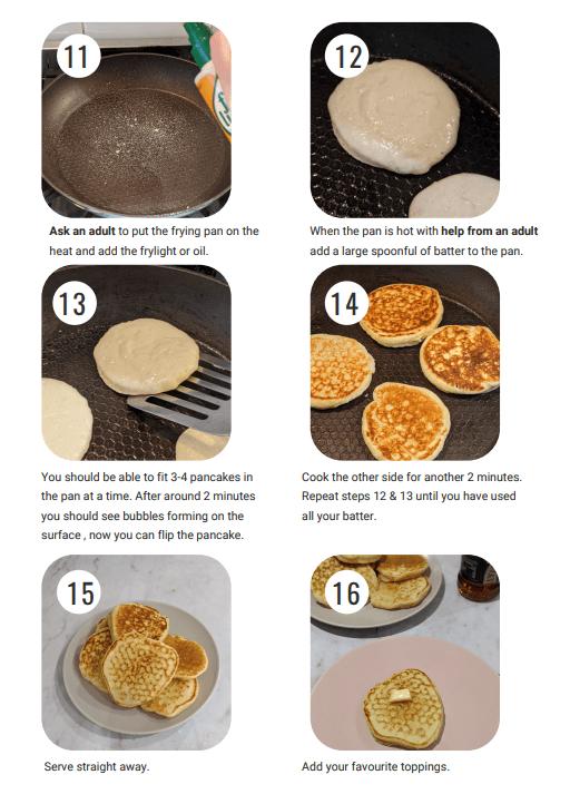 Pancakes visual instructions 3