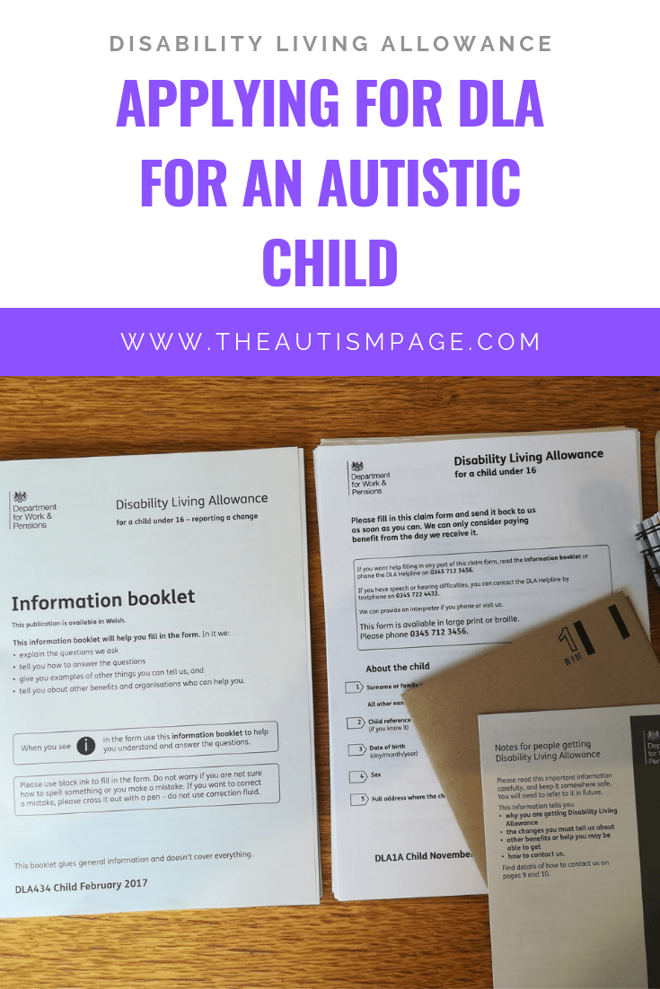 Applying for DLA for an autistic child