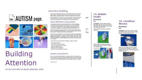 Example pages from Building Attention eBook