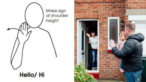 Makaton sign hello