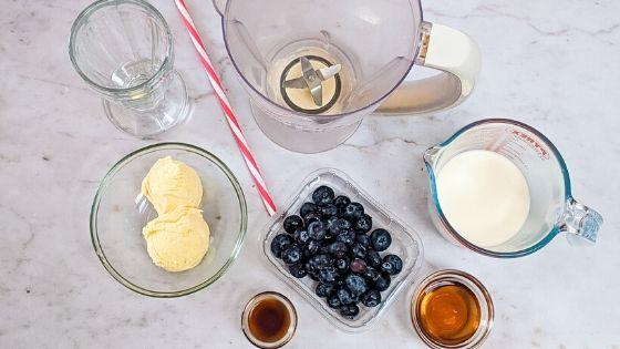 blueberry milkshake ingredients