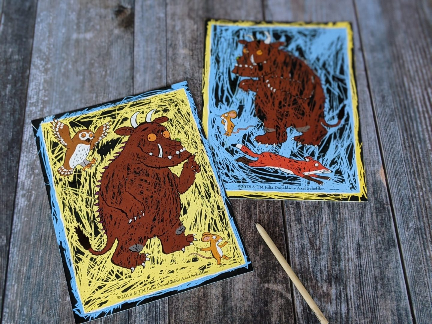 Gruffalo scratch art - mark making