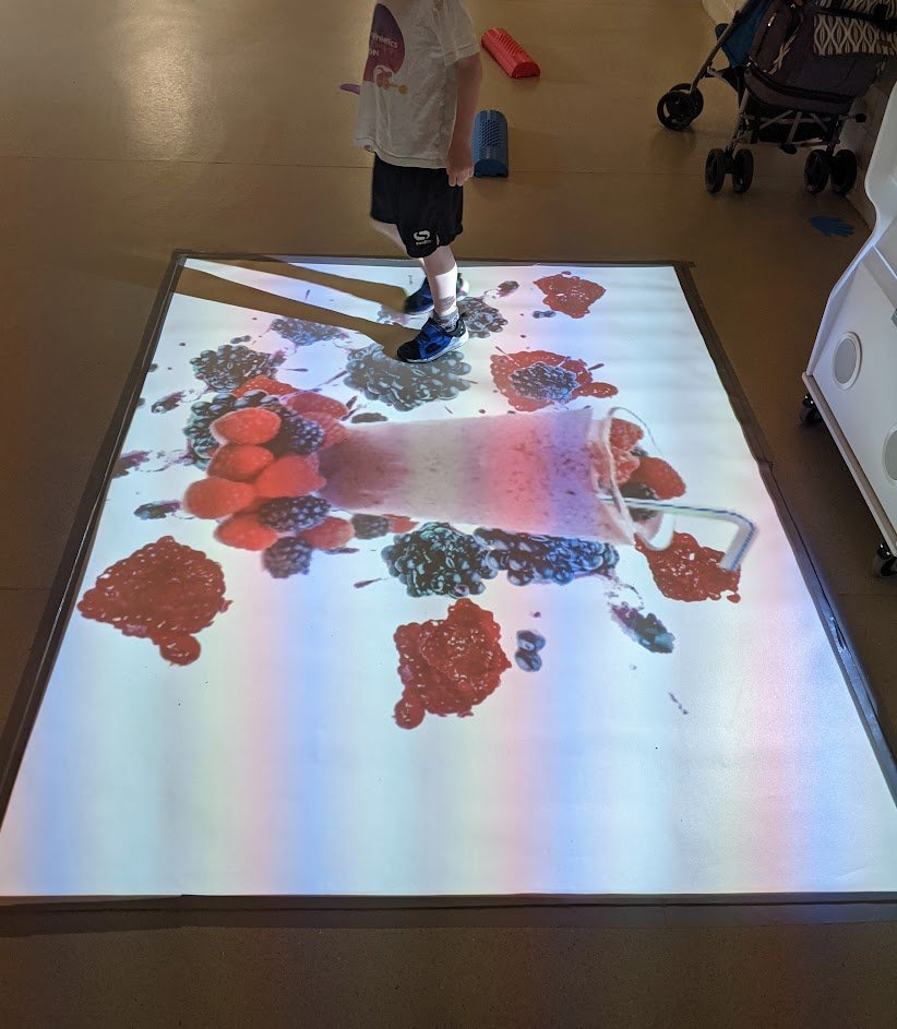 motion activated sensory projection
