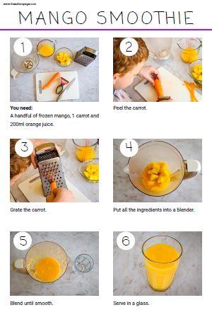 mango smoothie visuals